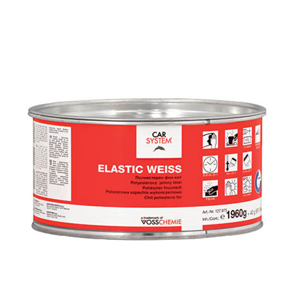 Elastic Weiss Polyester Fine Putty